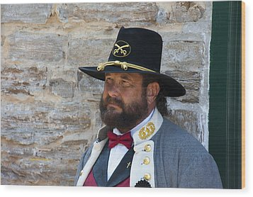 Major General Lunsford L.lomax Portrayed By Dan L. Carr 150th Anniversary Of The American Civil War  Wood Print by Jonathan Whichard