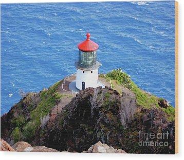 Makapupu Lighthouse Wood Print