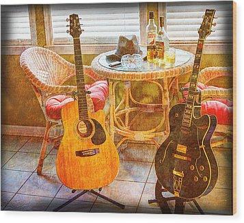 Making Music 004 Wood Print by Barry Jones
