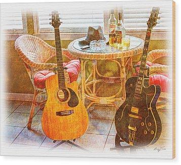 Making Music 005 Wood Print by Barry Jones