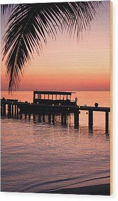 Maldives Sunrise Wood Print by Shirley Mitchell