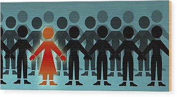 Male Dominated Society, Artwork Wood Print by Christian Darkin