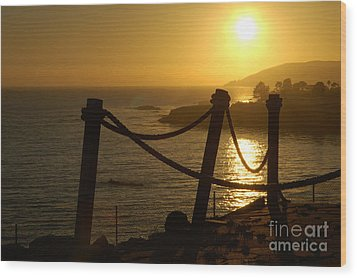Malibu Sunset Wood Print by Micah May