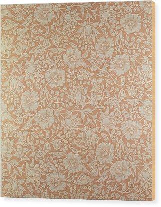 Mallow Wallpaper Design Wood Print by William Morris