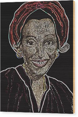 Mama Nura Wood Print by Duwayne Washington