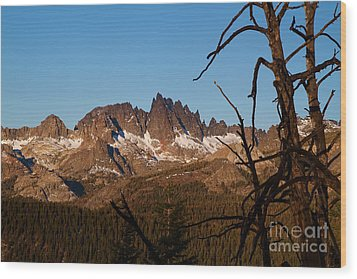 Mammoth Mountain California And Devils Postpile National Monument With Spires Wood Print by ELITE IMAGE photography By Chad McDermott