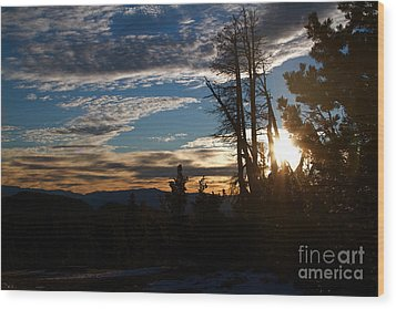 Mammoth Mountain California At Sunrise Wood Print by ELITE IMAGE photography By Chad McDermott