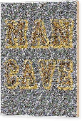 Man Cave Coin Mosaic Wood Print by Paul Van Scott