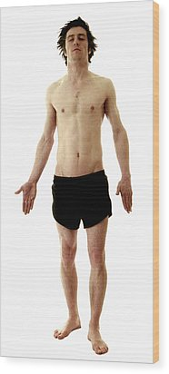 Man In Boxer Shorts Wood Print by Neal Grundy