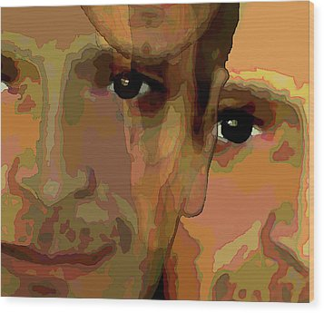 Wood Print featuring the painting Man In The Mirror 1 by Jann Paxton
