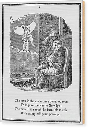 Man In The Moon, 1833 Wood Print by Granger