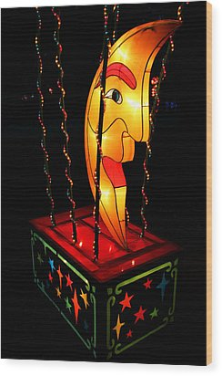Man In The Moon Lantern Wood Print by Greg Matchick