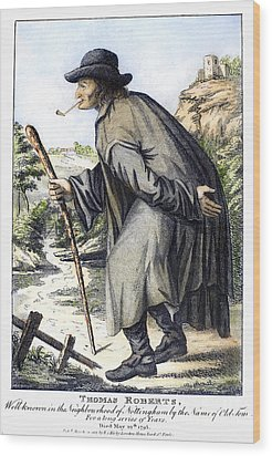 Man With Cane, C1795 Wood Print by Granger
