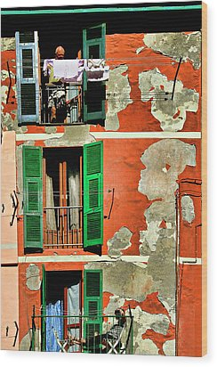 Manarola Apartment Wood Print