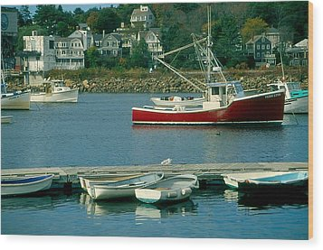Manchester Harbor Manchester By The Sea Ma   Wood Print by Stephen Prunier