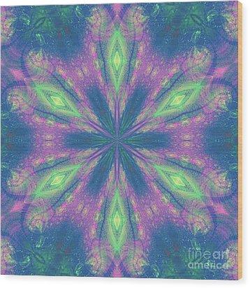 Mandala Wood Print by Kirila Djelepova