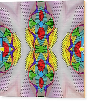 Mandala Mystery Wood Print by Mario Carini