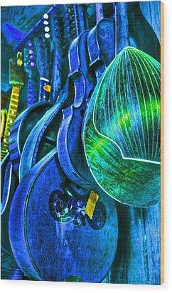 Mandolin Blues Wood Print by Frank SantAgata