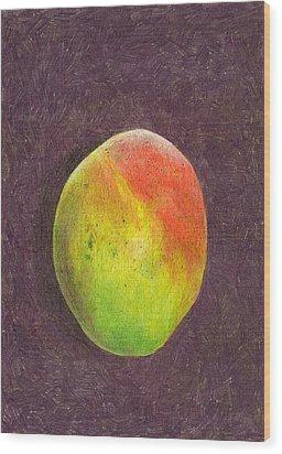Mango On Plum Wood Print by Steve Asbell
