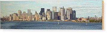 Manhattan Skyline Panarama Wood Print