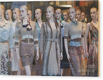 Mannequins I Wood Print by Clarence Holmes