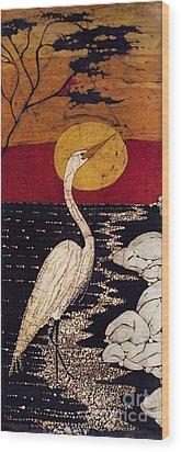 Mano's Egret Wood Print by Alexandra  Sanders