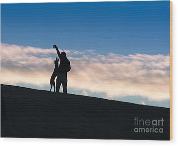 Wood Print featuring the photograph Mans Best Friend by Andrew  Michael