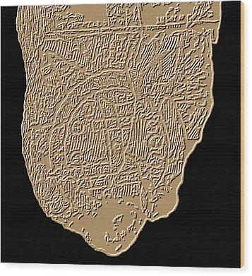 Map Of Mesopotamia Wood Print by Sheila Terry