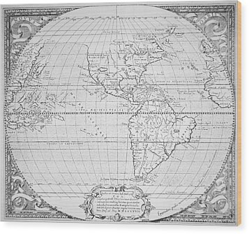 Map Of The New World 1587 Wood Print by Richard Hakluyt