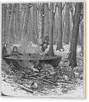 Maple Syrup, 1877 Wood Print by Granger