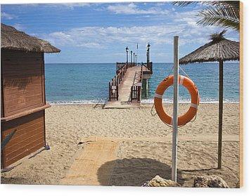Marbella Beach In Spain Wood Print by Artur Bogacki