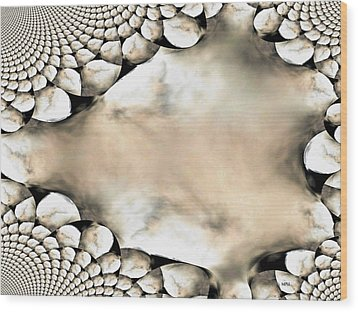 Marble Abstract Wood Print by Maria Urso