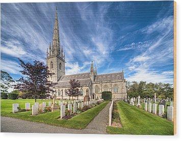 Marble Church Wood Print by Adrian Evans