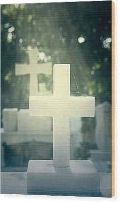Marble Crosses Wood Print by Joana Kruse