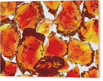 Marble Red Crackle Broken 1 B Wood Print by John Brueske