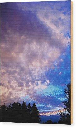 Marble Sky 2 Wood Print by Kevin Bone