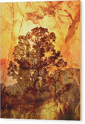 Marbled Tree Wood Print by Marty Koch
