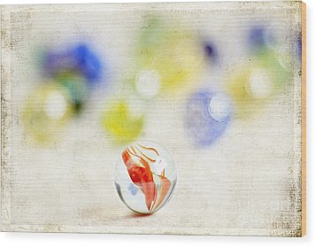 Marbles Wood Print by Darren Fisher