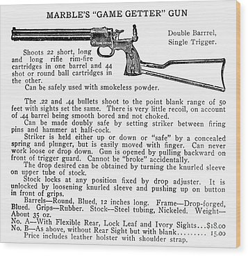 Marbles Game Getter Gun Wood Print by Granger