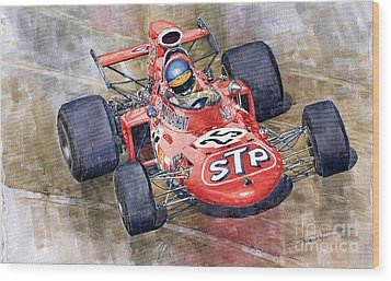 March 711 Ford Ronnie Peterson Gp Italia 1971 Wood Print by Yuriy  Shevchuk
