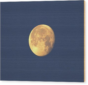Wood Print featuring the photograph March Moon by Jeanne Andrews
