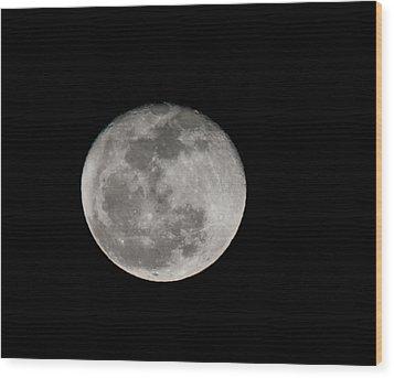 March Waning Moon Wood Print by Lara Ellis