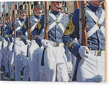 Mardi Gras Marching Soldiers Wood Print by Kathleen K Parker