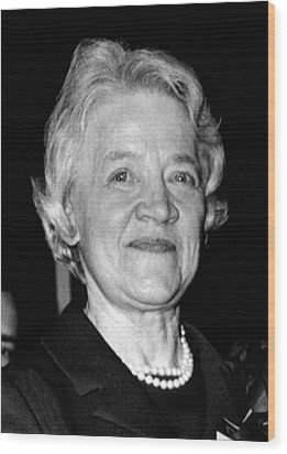 Margaret Chase Smith, 1897-1997 Wood Print by Everett