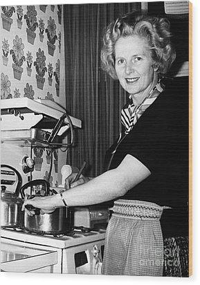 Margaret Thatcher (1925- ) Wood Print by Granger