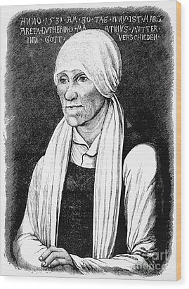 Margarethe Luther Wood Print by Granger