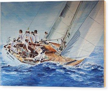 Margarita Wood Print by Maria Balcells