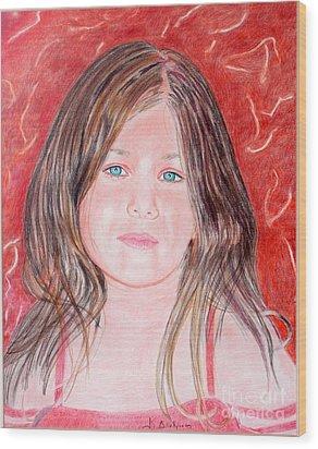 Maria Wood Print by Kostas Dendrinos