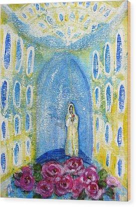 Maria Rosa Mistica Wood Print