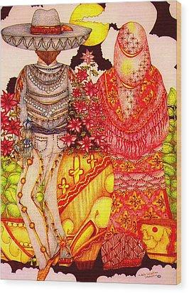 Mariachi Wedding Wood Print by Dede Shamel Davalos